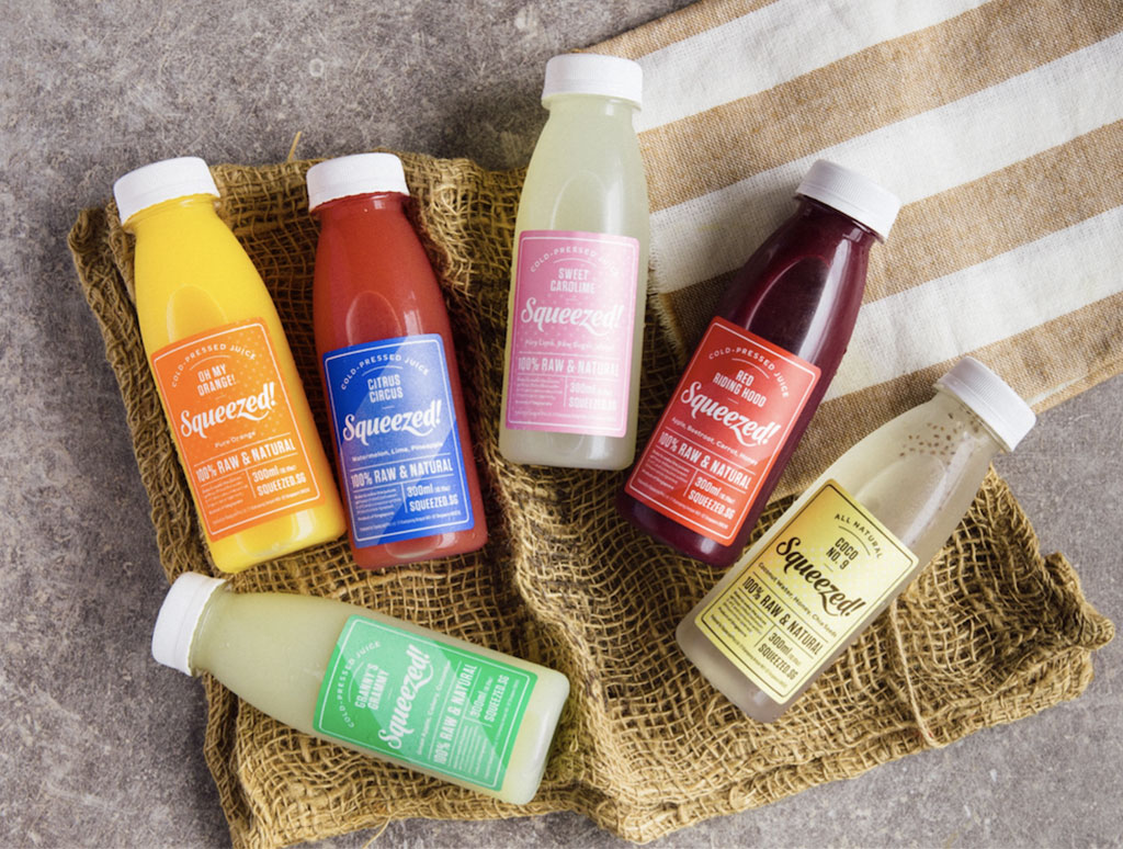 SQUEEZED! HPP COLD-PRESSED JUICE, IMPORTED AND DISTRIBUTED BY PROVENANCE DISTRIBUTIONS SINGAPORE